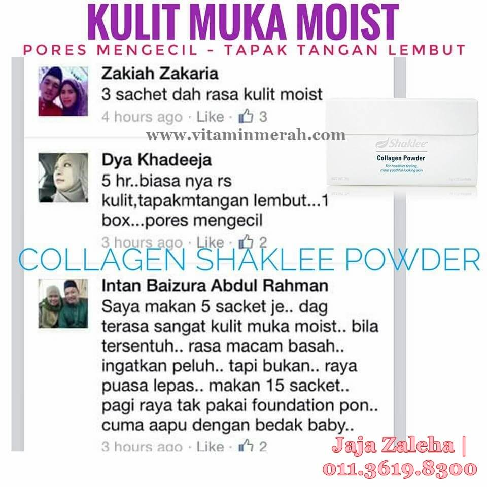testimoni collagen powder shaklee 1