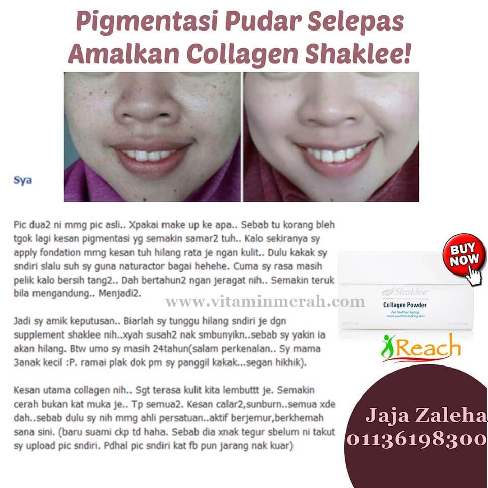 testimoni collagen powder shaklee 2